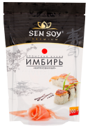 SEN SOY Premium-ИМБИРЬ МАРИНОВАННЫЙ 300гр.*18 дойпак