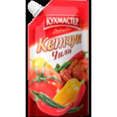 """КУХМАСТЕР-КЕТЧУП 260гр.*20""""ЧИЛИ"""" Д/П"""