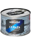 ДОБРОФЛОТ-СЕЛЬДЬ (№6) Т/О НАТУР. 245гр.*48 КЛЮЧ (357)