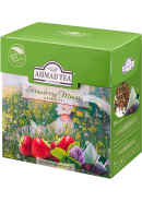 "Чай ""Ahmad Tea"" ПИРАМИДКИ 20*1,8гр.*12- Клубничный мусс, зеленый (1237)"