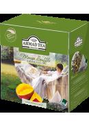 """Чай """"Ahmad Tea"""" ПИРАМИДКИ 20-1,8гр.*12- Манговое суфле, зеленый (1400)"""