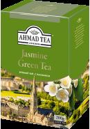 "Чай ""Ahmad Tea"" ЗЕЛЕНЫЙ ЛИСТ. 200гр.*12-С ЖАСМИНОМ  (1311-1)"