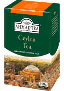"Чай ""Ahmad Tea"" ЧЕРНЫЙ ЛИСТ. 100гр.*12- Цейлонский Oранж Пеко (1299-2)"