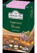 """Чай """"Ahmad Tea"""" ЧЕРНЫЙ ЛИСТ. 100гр.*12- Чабрец (1178-1)"""