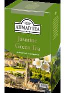 "Чай ""Ahmad Tea"" ЗЕЛЕНЫЙ ЛИСТ. 100гр.*12-С ЖАСМИНОМ  (1305-3)"