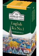 "Чай ""Ahmad Tea"" ЧЕРНЫЙ ЛИСТ. 100гр.*12- Английский № 1 (1302-2)"