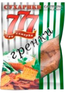 """ГРЕНКИ """"777"""" 50гр.*40-СМЕТАНА И ЗЕЛЕНЬ пакет"""