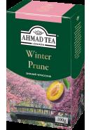 "Чай ""Ahmad Tea"" ЧЕРНЫЙ ЛИСТ. 100гр.*12- Зимний чернослив (1196-1)"