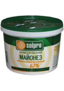 "МАЙОНЕЗ ""SOLPRO""- ПРОВ. КЛАС.67% В/К 10л. ВЕДРО"