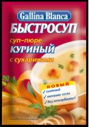 """""""GB""""БЫСТРОСУП СУП-ПЮРЕ/СУХАРИКИ """"КУРИНЫЙ"""" 17гр.*24"""