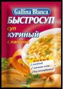 """""""GB""""БЫСТРОСУП СУП С ЛАПШОЙ """"КУРИНЫЙ"""" 15гр.*24"""