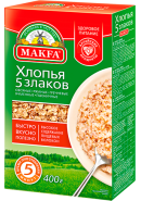 """""""MAKFA"""" ХЛОПЬЯ 5 ЗЛАКОВ 400гр.*12"""