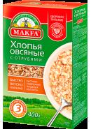 """""""MAKFA"""" ХЛОПЬЯ ОВСЯНЫЕ С ОТРУБЯМИ 400гр.*12"""