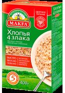 """""""MAKFA"""" ХЛОПЬЯ 4 ЗЛАКА 400гр.*12"""